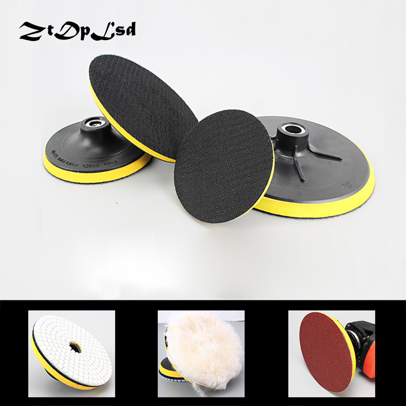 Tools Confident 1pc Polishing Self-adhesive Disc Polishing Sandpaper Sheet Adhesive Disc Chuck Angle Grinder Sticky Plate For Car 80-180mm