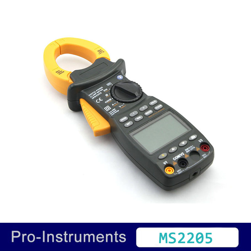 Peakmeter MS2205 Professional Multifunction Power Factor Correction TRMS 4 Wire Testing 3 Phase Clamp Meter