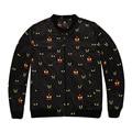 6XL Большой Размер Мужчины Куртку, мужская Шею Печатных Куртки И Пальто, случайные Свободные Осень Пальто Мужской Моды