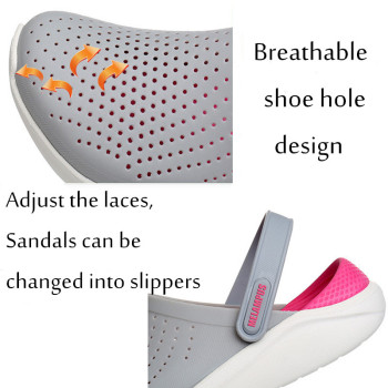 Lizeruee Summer Soft Slippers For Women EVA Clogs Mules Unisex Beach Slippers Casual Shoes Sports Mules Garden Clogs Wholesale 1