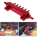 TT1017 Car Aluminum Alloy Vacuum Manifold Kits 6 Port 1/8 NPT Turbo Wastegate Boost Block Intake Manifold Modification Accessory