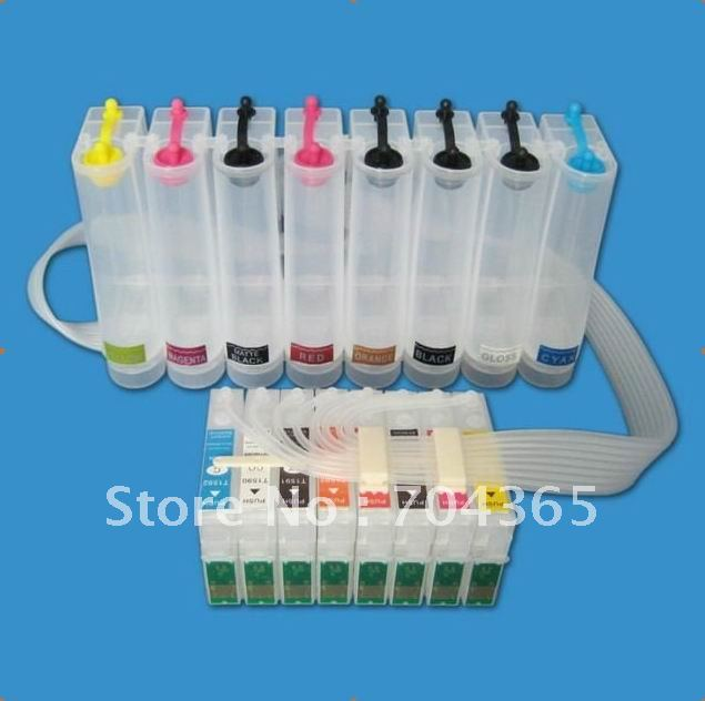 ФОТО Free Shipping Empty CISS R2000 ink system with permanent chip for Epson R2000 printer Ink Refill