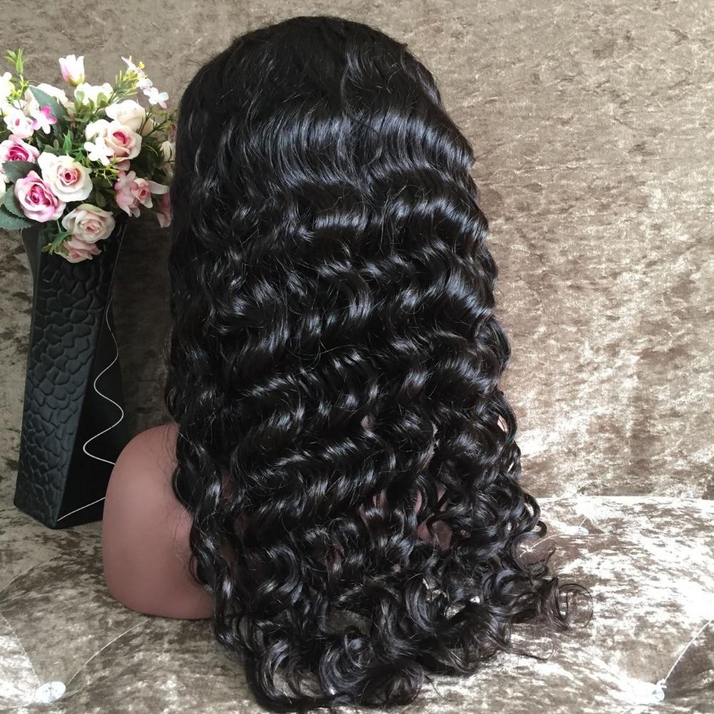 Hair thick 180 density glueless human hair full lace wig full density
