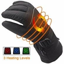 7,4 В Батарея подогревом электрические перчатки Рождественский подарок Зимние перчатки, Водонепроницаемый электрические нагревательные перчатки Для женщин Для мужчин