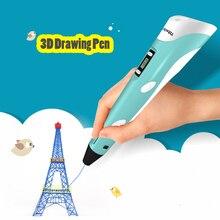 Myriwell 3D ручка светодио дный Дисплей 2nd поколения 3D печать Ручка с 9 м ABS нити искусств ручки «сделай сам» для детей рисунок инструменты