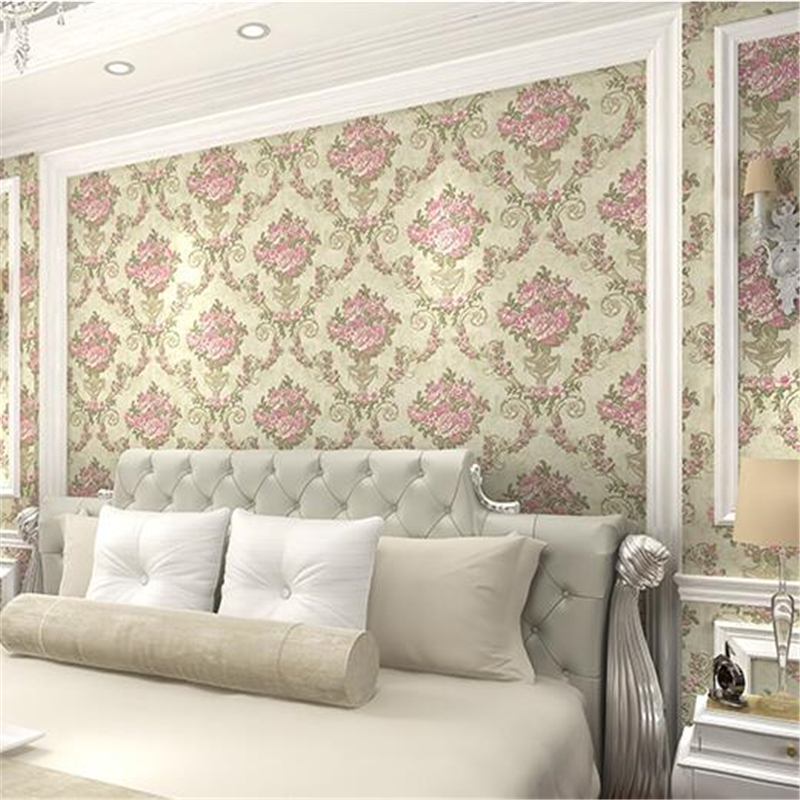 beibehang European-style wallpaper 3d embossed living room background wall paper thick moisture-proof garden non-woven wallpaper beibehang embossed non woven stereoscopic mosaic wallpaper rolls modern woven 3d flocking wall paper living room home decoration