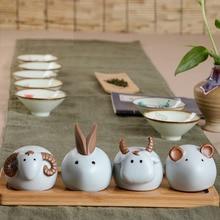 Tea pet cattle rabbit sheep tea decoration play accessories