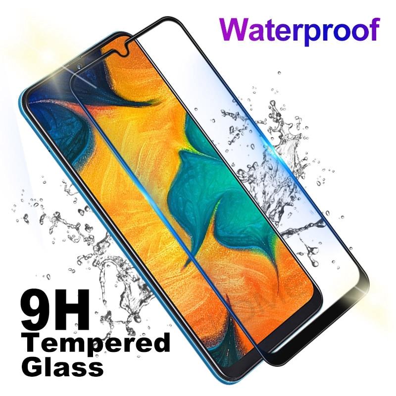 Pour Samsung Galaxy A20 A30 A40 A50 Protection d'écran en verre trempé pour Samsung A 50 40 30 20 Film de verre protecteur d'écran complet