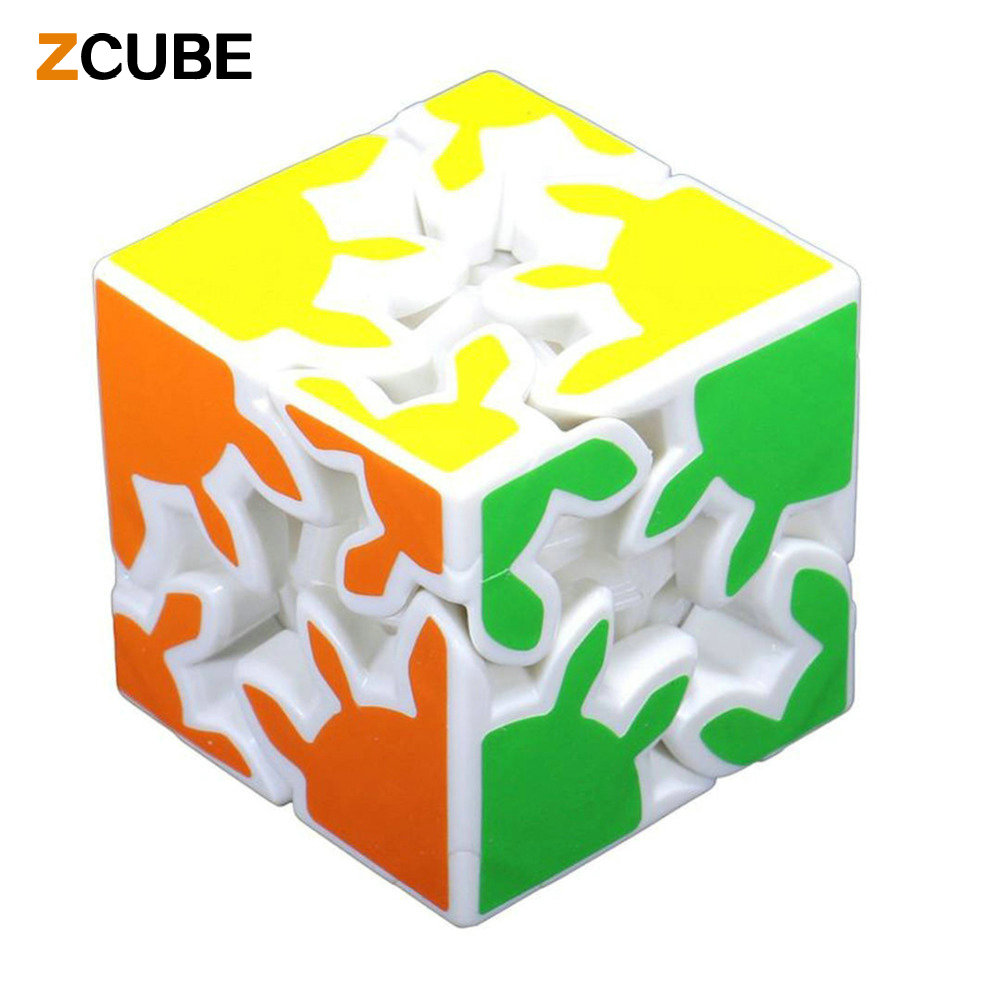 Z Cube New 2x2x2 Gear Magic Cube 6cm 3D Puzzle Cubes Educational Toy Special Toys White