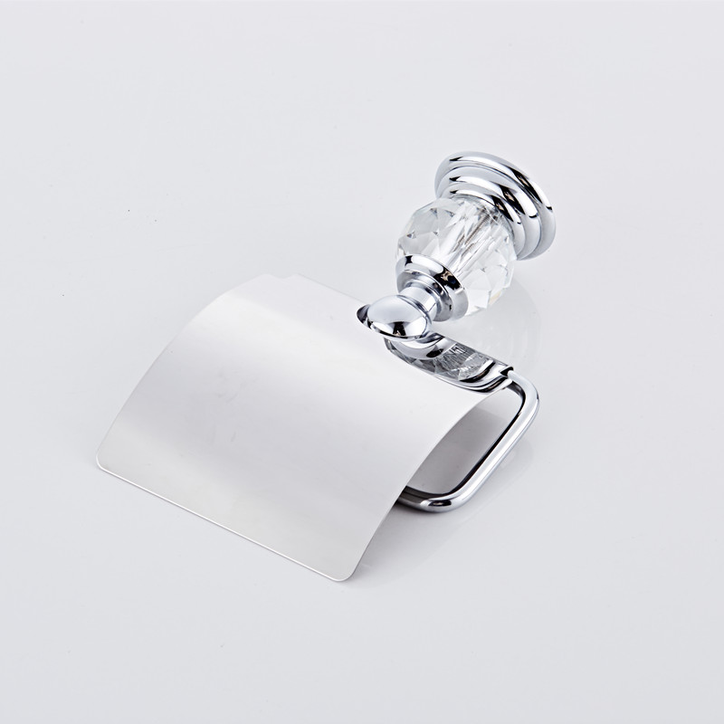 Luxury Chrome Crystal Toilet Paper Holder Roll Tissue Bathroom Accessories Products In Holders From Home Improvement On