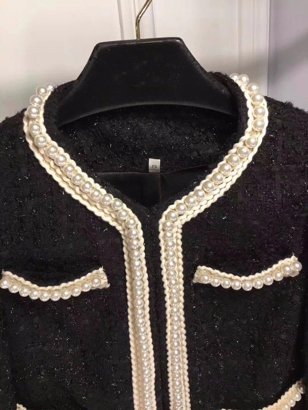 Tweed Nouvelle 2018 Veste Perle H Manteau Femmes Automne 5gBBxwX