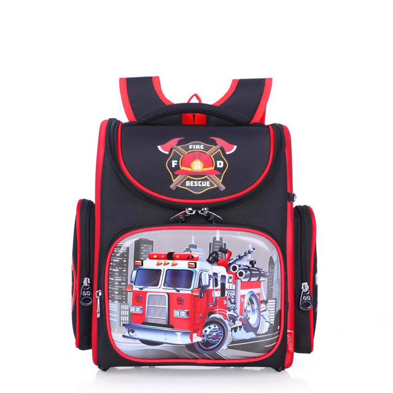 Brand Orthopedic Children School Backpack For boys Primary School Bag 1-5 Grade Cartoon Fire truck kids Knapsack 2019 book bagBrand Orthopedic Children School Backpack For boys Primary School Bag 1-5 Grade Cartoon Fire truck kids Knapsack 2019 book bag