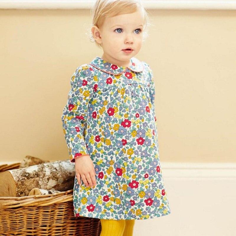 a304888ecd5a2 Little maven kids brand clothes 2018 autumn kids dress new baby girls  clothes Cotton flower print girl dresses S0415