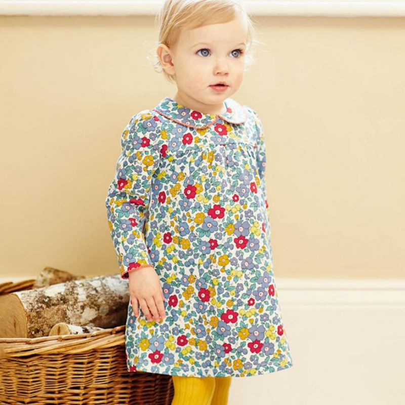 Little maven kids brand clothes 2018 autumn kids   dress   new baby   girls   clothes Cotton   flower   print   girl     dresses   S0415