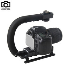 U-сцепление Горячий Башмак Видео Действие Стабилизатор Ручка Установки для Цифоровой Зеркальный Фотоаппарат Canon Nikon Sony iPhone 7 Gopro Видеокамера Mini DV