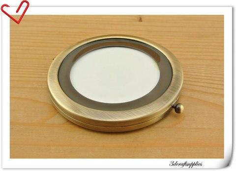 70mm de alta qualidade Em Branco moldura de espelho compacto espelho de Bolso Fazer um