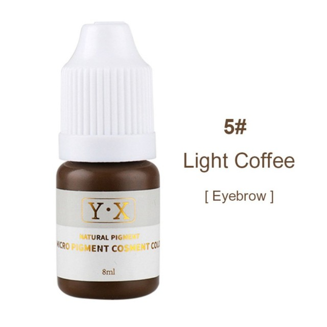 22 Colors Professional Female Semi Permanent Makeup Eyebrow Inks Lips Eye Line Microblading Pigment Eyebrow Tattoo Color Tattoo Inks