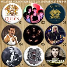 Rock Band Queen Souvenir Collection Badge Freddie Mercury,Brian May,Adam Lambert Tinplate Brooches Personalized Gift for Friend(China)