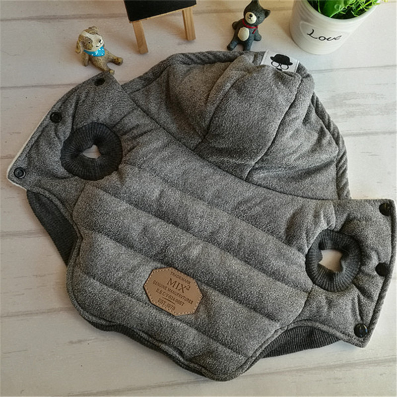 Funny Dog Coat Autumn Winter Pet Cat Clothes Warm Thick Cotton Puppy Doggie Hoody Jacket Clothing Costume For Small Dogs S XXL in Dog Coats Jackets from Home Garden