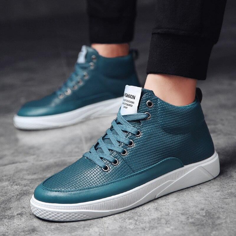 A Chaussure Moda Negro Hombres Hombre Negro Homme De Diseño Zapatos Verde Altos verde Blanco Los Sólido up Lace Casual blanco Estrenar Color Zapatilla rwqZSrP