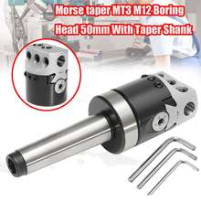 Universal High Quality 50mm MT3-M12 Usage Boring Head With Morse Taper Shank For  Lathe Milling Lathe Tools