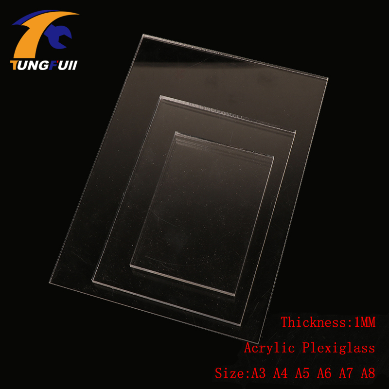 TUNGFULL A3 Acrylic Sheets 1mm Transparent Plastic For Plexiglass Perspex Sheet Plast A4 A5 A6 A7 A8 Pressure Plate Clay Tool