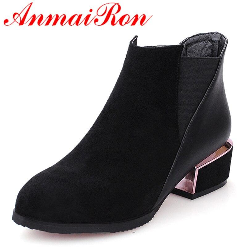 43 Chaussures Femme Taille Pour Printemps Bottes Red Moto Noir Anmairon Plate Pointu Noires Grande De Automne ardoisé Bottines Et forme 34 wine Femmes Bout qUzVpSMG