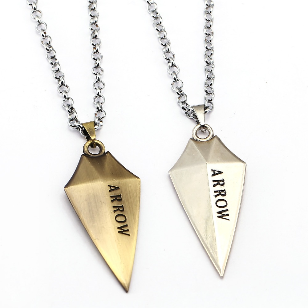 2 Style ARROW Necklace Oliver Queen Cool Pendant Fashion link chain Necklaces Friendship Gift Jewelry Accessories accessories fashion fashion accessoriesnecklace friendship - AliExpress