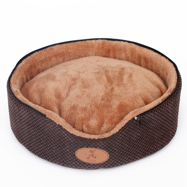 Hoopet Pet Dog Cat Tent Bed House Washable Dirt-Resistant Soft Dog Chocolate House Cat Bed Kennel Double Sided Cushion