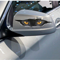 One Pair New Funny Car Sticker 3D Cat Eyes Peeking Monster Voyeur Car Hoods Trunk Thriller Rear Window Decal