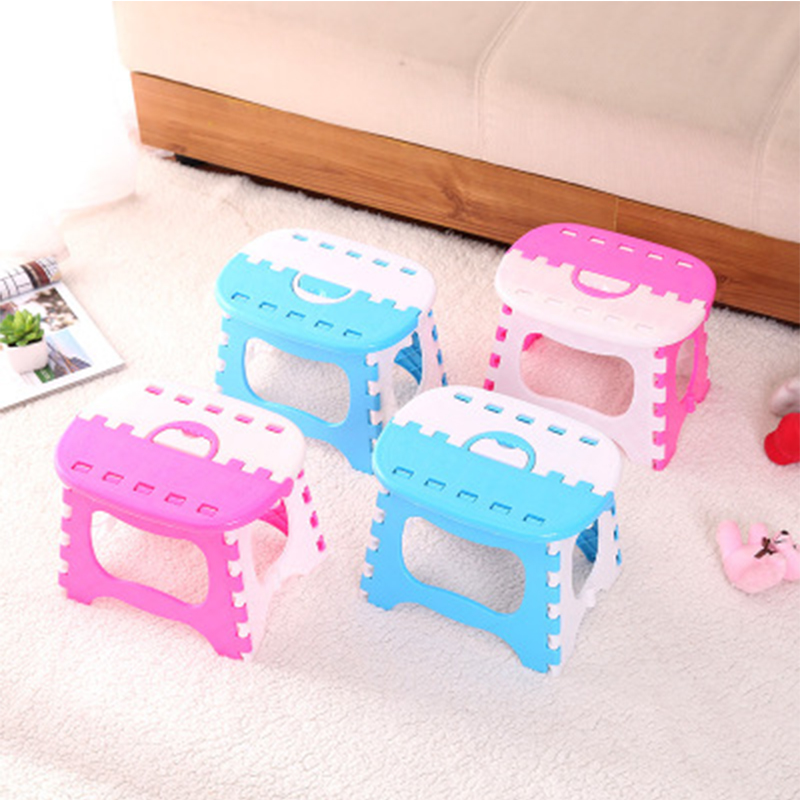 Creative Plastic Folding Stool And Multi-function Home Living Room Portable Thickening Outdoor Travel Sand Play Children's Stool