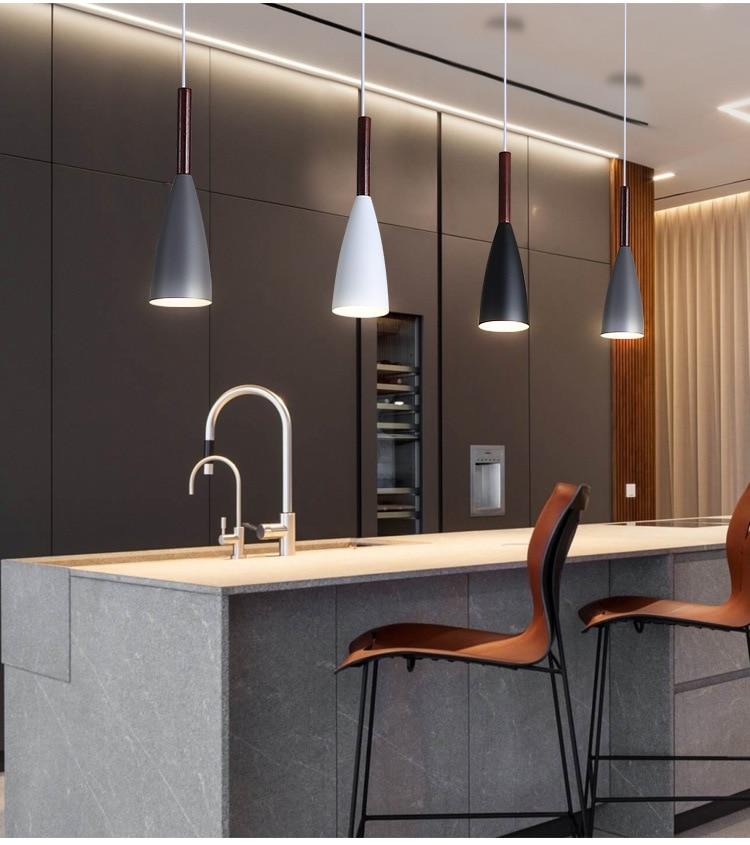 LuKLoy Modern Pendant Light Kitchen Hanging Lamp Dining Room Kitchen Lighting Fixture Loft Decor Wood Hanglamp luminaire Lustre (19)