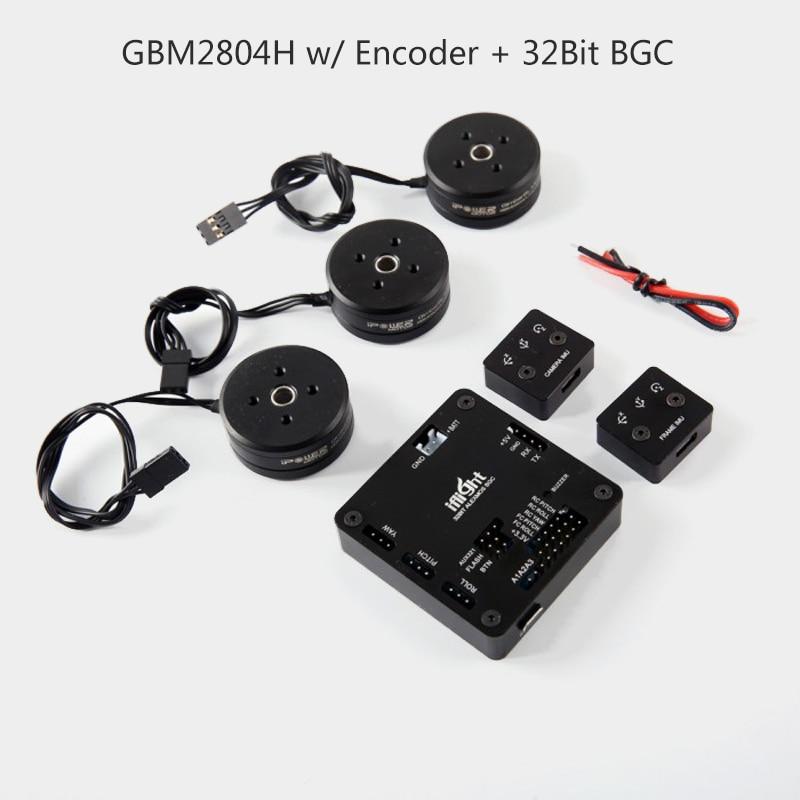 32bit AlexMos Brushless Gimbal Controller +3PCS iPower GBM2804H 100T Gimbal Motor for Torque 200 400g camera gimbal