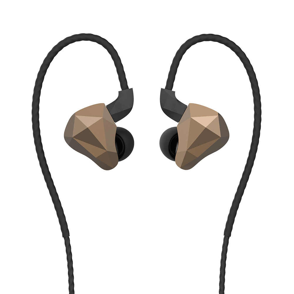 Yinyoo TOPAZ 4BA+1DD 10MM Bio-Diaphragm Customized Alloy Dynamic Driver  Hybrid In Ear Earphone HIFI DJ Monitor Earphone Earbuds