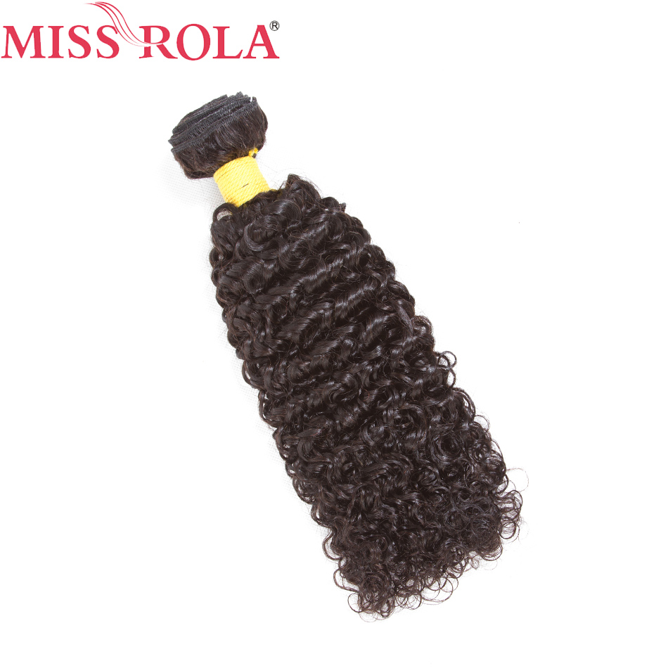 Miss Rola Hair Malaysian Kinky Curly Hair Weave Bundles Non-Remy Human Hair Weaving Natural Color 8-26inch Free Shipping