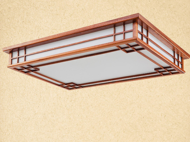 Rectangle 100x70cm Asian Chinese Anese Style Ceiling Lamp Led Wood Light Bedroom Living