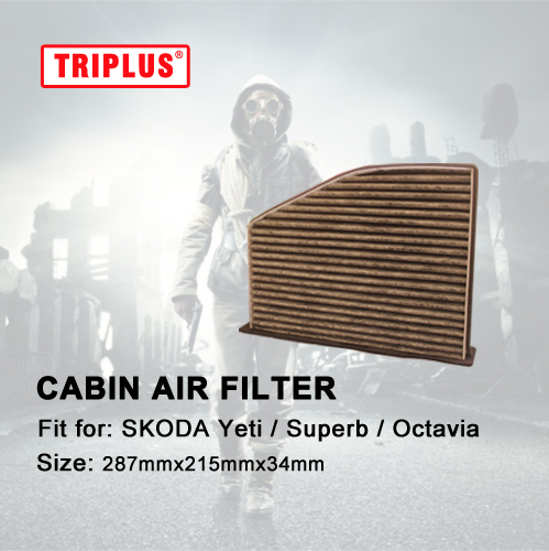 Cabin Air Filter for SKODA Yeti / Superb / Octavia 1pc, Activated High Carbon Pollen Air Filters