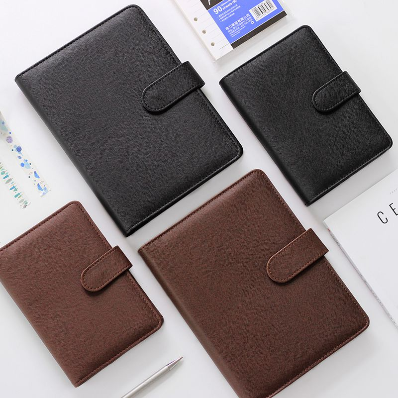 Deli Concise Notebook Portable Notebook Loose Leaf Detachable Buckle Ring Thickening Filofax A5 Business Notebook A6 Workbook
