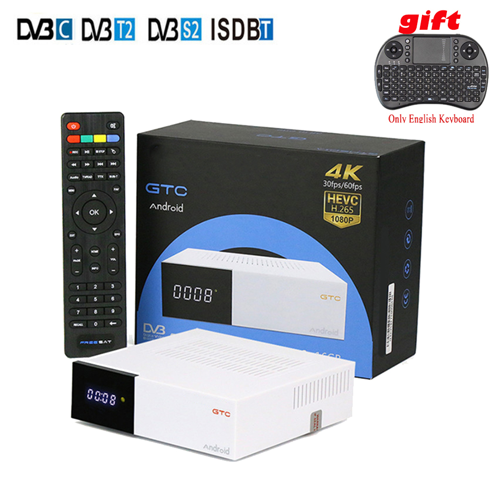 GTC TV Box Android 6.0 Amlogic S905D Quad core 2GB/16GB Dual WIFI BT4.0 TV Player DVB-S2&T2/C/ISDBT Satellite Receiver m8 fully loaded xbmc amlogic s802 android tv box quad core 2g 8g mali450 4k 2 4g 5g dual wifi pre installed apk add ons