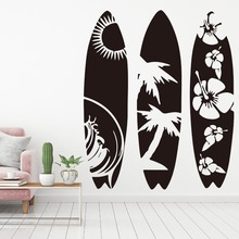 New arrival Surfboard Wall Sticker Bedroom Living Room Summer Beach SurfBoard sport Decal Kids Decor Mural