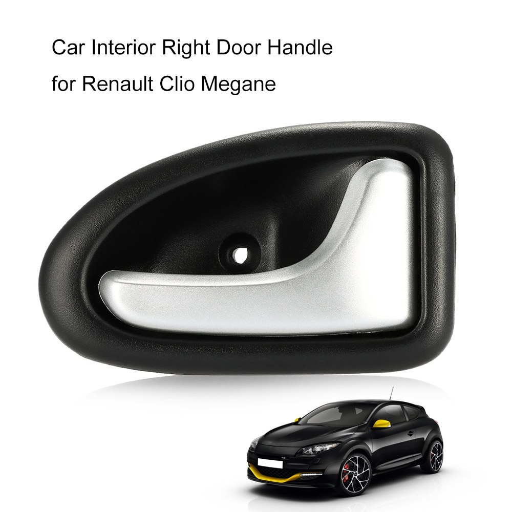abs chrome plated right car interior door handle car knob hand grip for renault for clio for. Black Bedroom Furniture Sets. Home Design Ideas