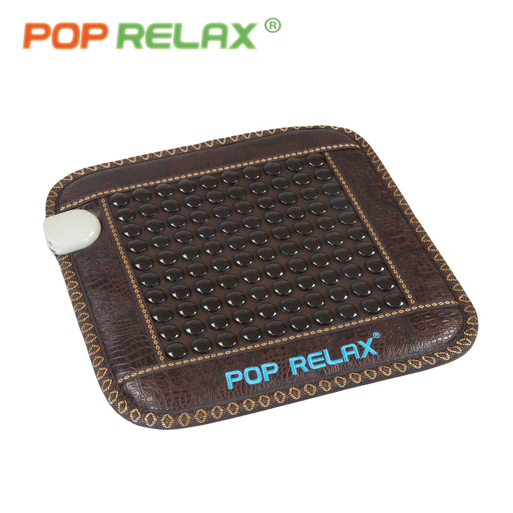 POP RELAX 110V tourmaline germanium mattress far infrared thermal heating health care jade stone chair seat massage mat mattress pop relax electric vibrator jade massager light heating therapy natural jade stone body relax handheld massage device massager