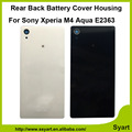 1 шт. Черный Белый Розовый Горячий продавать OEM качество батарейного отсека назад крышка корпуса с логотипом Для Sony Xperia M4 Aqua E2303 E2333