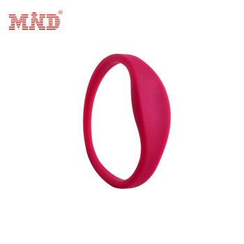 100pcs Rfid Waterproof Proximity ID Card 125khz RFID silicone wristbands bracelets and wrist band ID TK4100 silicone id wri