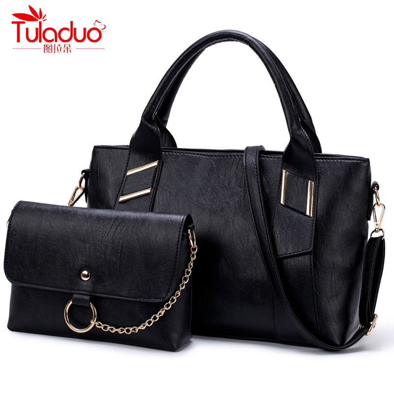 2017 New Fashion Chains Women Handbags High Quality PU Leather Casual Tote Women Shoulder Bags Luxury Brand Ladies Composite Bag women vintage composite bag genuine leather handbag luxury brand women bag casual tote bags high quality shoulder bag new c325