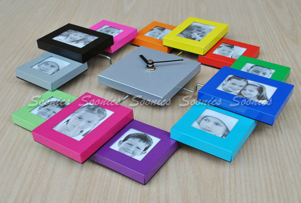 Modern Family Home Multi Color 12 Picture Photo Frame Quartz Wall
