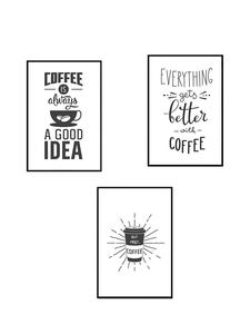 Image 5 - Coffee is Always a Good Idea Kitchen Wall Art Canvas Painting Nordic Black and White Poster for Home Decor Pictures Unframed