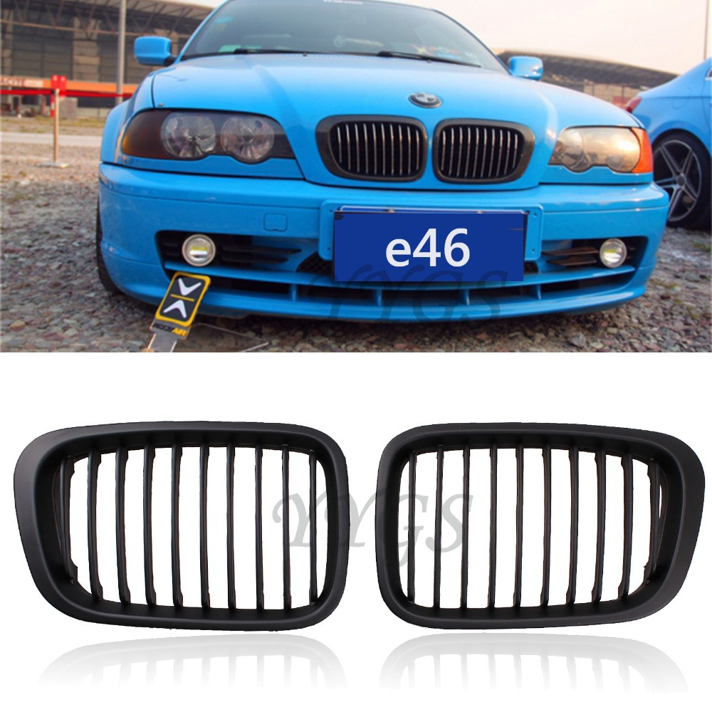 Car Styling Matte Black Grille Grill For BMW Door E - 2001 bmw 328i