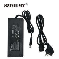 SZYOUMY AC адаптер питания DC 12 В 12.5A 150 Вт выход 5,5 мм x 2,5 мм разъем для 5050 светодиодный Жесткий полосы модули камера видеонаблюдения с подсветкой
