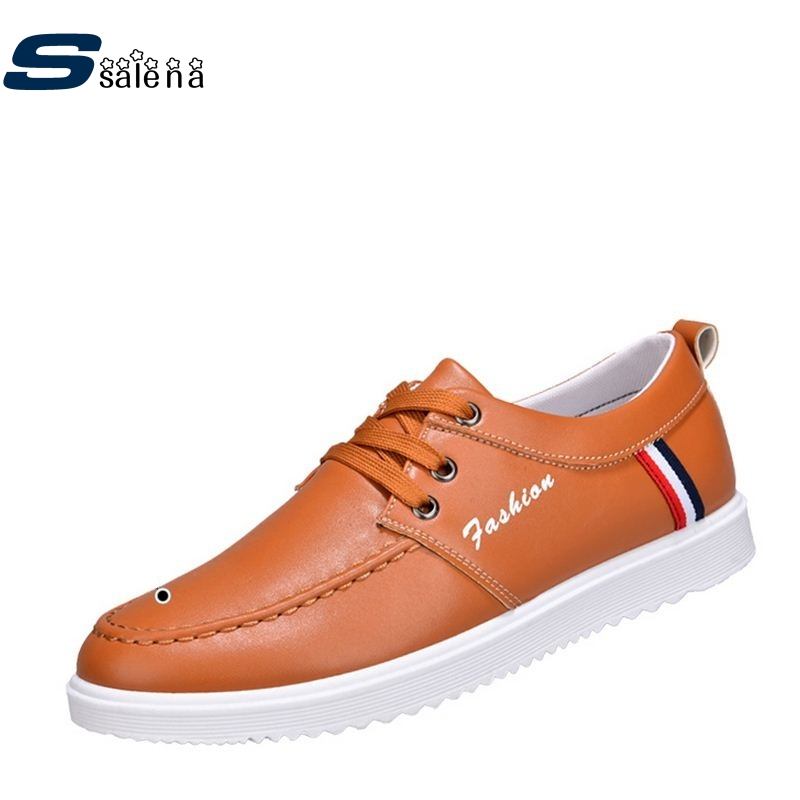 Boys Casual Shoes Soft Footwear Classic Flats Leather Men Shoes Fashion High Quality Shoes AA30069 male casual shoes soft footwear classic men working shoes flats good quality outdoor walking shoes aa20135
